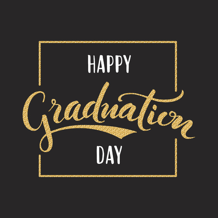 Happy graduation hand drawn lettering for greeting invitation 76468983 happy graduation day hand drawn lettering for greeting invitation card m4hsunfo