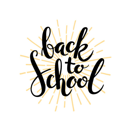 Back to school. Lettering on white background Ilustração