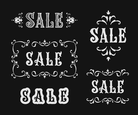 Vintage sale sign set