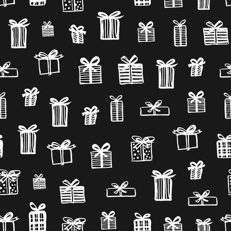 Hand drawn Christmas pattern Ilustração