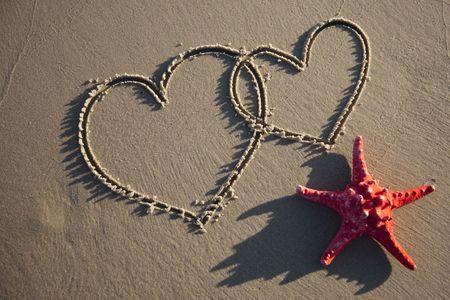 Heart on sand Stock Photo - 5660515