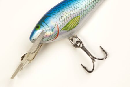 rapala: Fishing lure isolated on white  Stock Photo