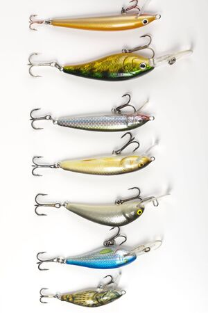 rapala: Fishing lures isolated on white