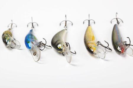 rapala: Fishing hook isolated on white