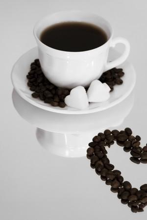 coffee hour: Cup of fresh coffee
