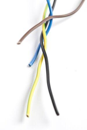 cables electricos: Cables el�ctricos Foto de archivo