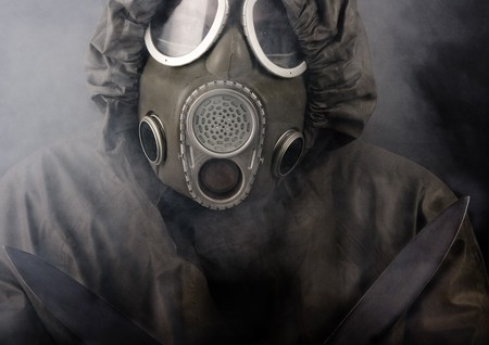 A man in a mask photo