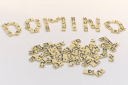 Domino-laying bricks photo