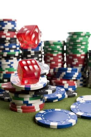 Casino dice photo