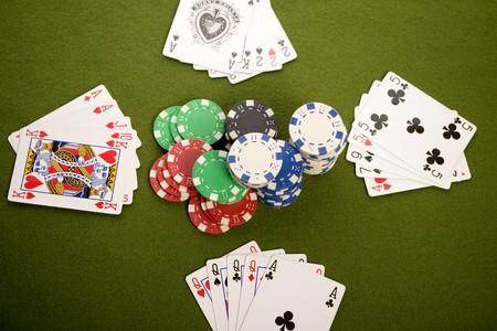 jetons poker: Les cartes et les jetons de poker