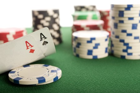 Cards and poker chips photo