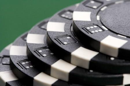 Macro of poker chips photo