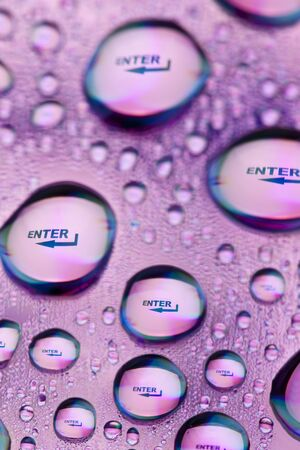Enter in water drops photo