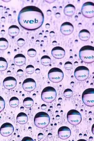 WEB in water drops Stock Photo - 9432186