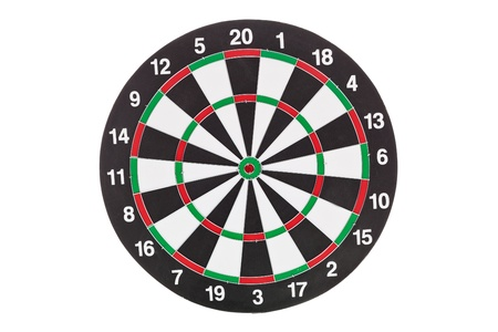 darts flying: Dartboard isolated on a white background