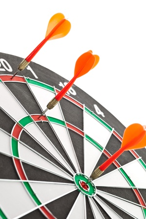 darts flying:  Red darts hitting the target for the shield