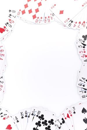 cartas de poker: Cartas de p�quer en el fondo blanco