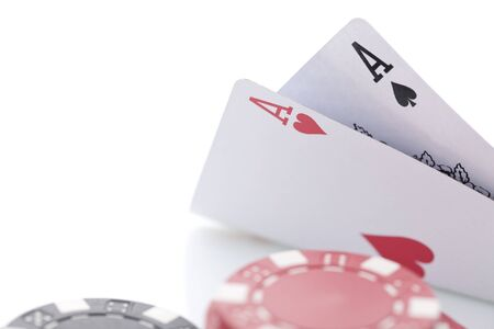 Close-up of poker cards Stock Photo