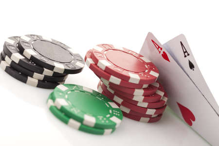 Close-up of poker cards photo