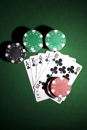 jeu de carte: Poker cartes et des jetons de jeu
