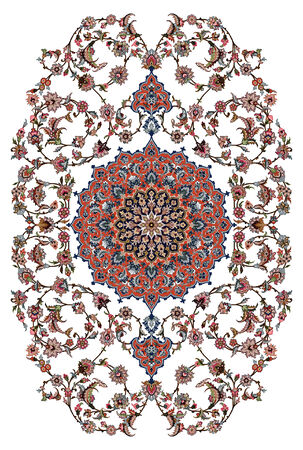 Persian Carpet Design Çizim