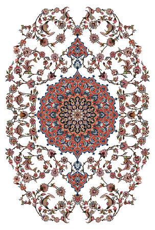 carpet: Persian Carpet Design Illustration