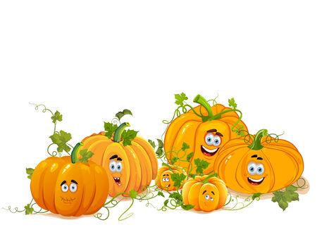 clipart wrinkles: Portrait of Pumpkin Family