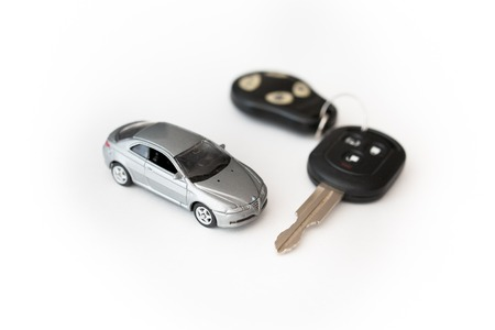 car key with remote control. white background