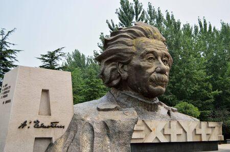Einstein sculpture Reklamní fotografie