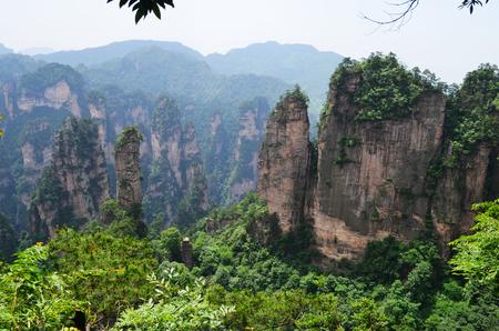 superficie: área escénica Zhangjiajie