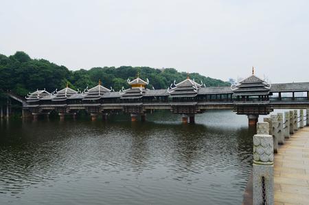 ancient architecture: Ancient architecture with historic bridge