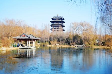 Historical buildings in Daming Lake Reklamní fotografie