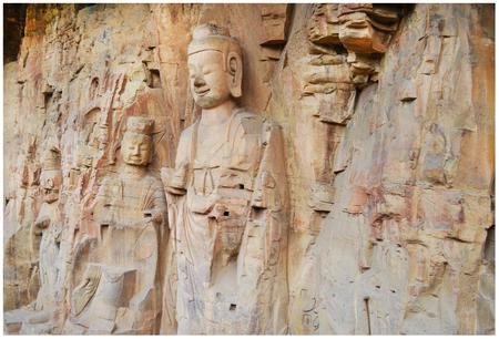 Longmen Grottoes Фото со стока