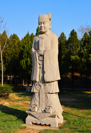Stone statue of Wei Wu Temple in Bozhou