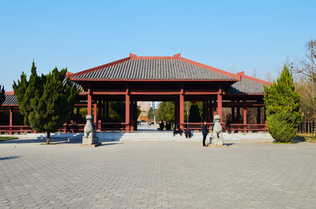Bozhou Wei Wu Temple Stock Photo