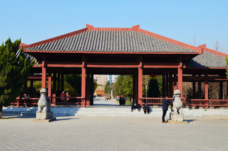 Bozhou Wei Wu Temple Stock Photo