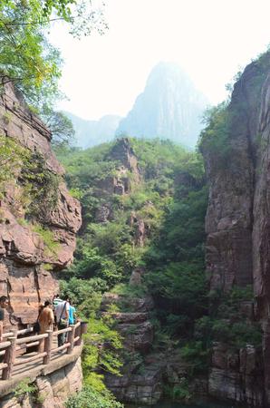 redstone: Yuntai Mountain scenery