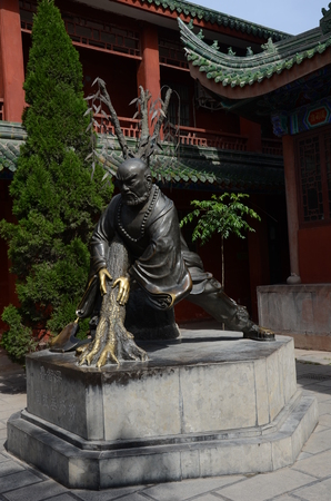 Statue in Kaifeng daxiangguo Temple Editorial