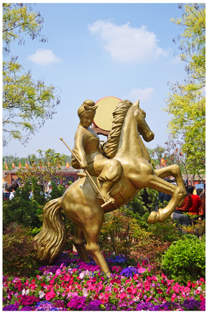 Millennium City Park outdoor standbeeld Stockfoto