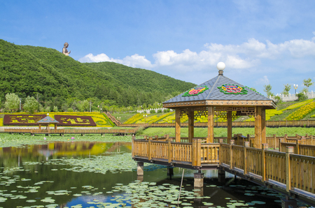 Landscape view of Six Ding mountain, Dunhua, China