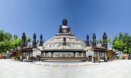 Buddha statue on Six Ding mountain, Dunhua