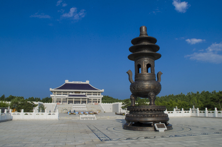Dunhua Qing ancestral temple exterior landscape view