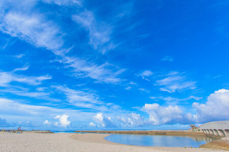 Tropical beach and blue sky of Okinawa photo