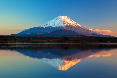 Mount Fuji and Lake Shoji photo