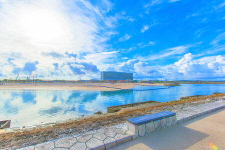 Tropical beach and blue sky of Okinawa