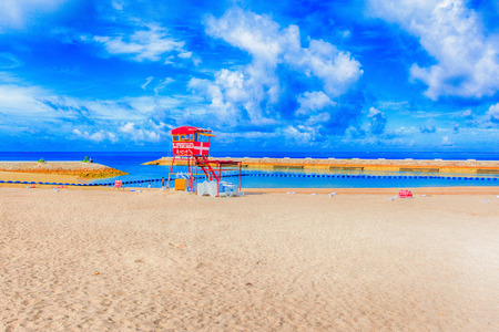 Tropical beach and blue sky, Okinawa photo