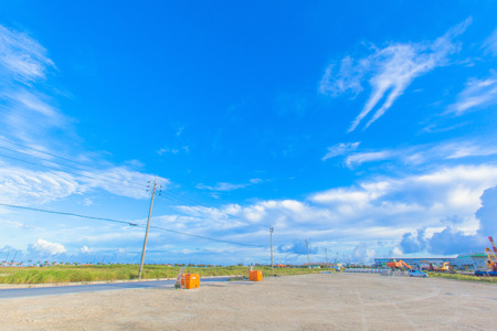 Tropical blue sky of Okinawa photo