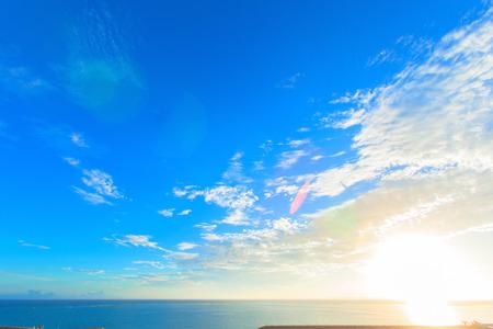 Morning sky and sea of harbor, Okinawa Stock fotó