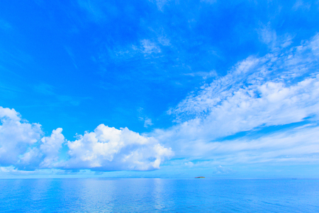 pacific ocean: Sea and clouds in Okinawa