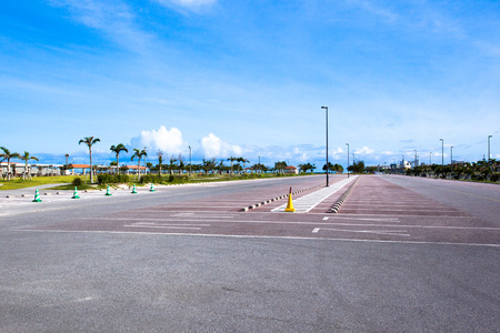 Parking in tropical island photo